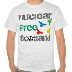 Indy Nuclear Free Scotland T-Shirt: A tshirt for supporters of Scottish independence from the UK Westminster Government who want to get rid of the Trident nuclear war weapons system from the Clyde.