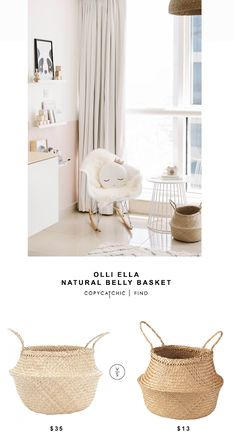 Olli Ella Natural Belly Basket for $35 vs Ikea Fladis Basket for $13 @copycatchic look for less budget home decor and design chic finds http://www.copycatchic.com/2016/10/olli-ella-natural-belly-basket-copycatchic-look-for-less.html?utm_campaign=coschedule&utm_source=pinterest&utm_medium=Copy%20Cat%20Chic&utm_content=Olli%20Ella%20Natural%20Belly%20Basket