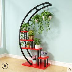 Online Shop Flower Storage Rack Holder Garden Rack Stand Plant Shelves Beautiful nice pergola for living room Balcony shelf House Plants Decor, Plant Decor, Garden Rack, Best Home Interior Design, Deco Floral, Flower Stands, Plant Shelves, New Living Room, Hanging Plants