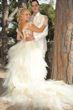 Wedding dress of Christelle by La Fée Corsetée !
