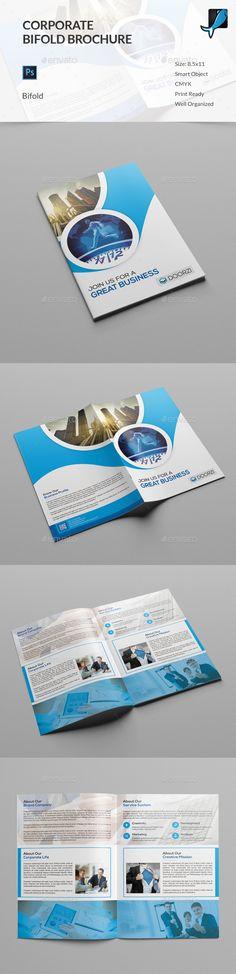Corporate Bifold Brochure Template PSD. Download here: http://graphicriver.net/item/corporate-bifold-brochure/14810323?ref=ksioks