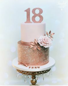 Wedding cake recipes 587508713876570596 - Rose Gold Birthday Cake Rose gold birthday cake, rose gold glitter cake – Huge Rose Gold Birthday Cake Rose gold birthday cake rose gold glitter cake Source by Birthday Cake Roses, Beautiful Birthday Cakes, Beautiful Cakes, Glitter Birthday Cake, 18th Birthday Cake For Girls, Sweet 16 Birthday Cake, 18th Birthday Decor, 18th Birthday Party Ideas Decoration, Glitter Party Decorations
