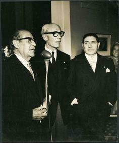 Bernardo Giner con Isidro Fabela y Padilla Nervo en la Embajada de España…