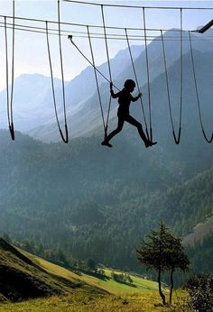 No Way!...Sky Walking, The Alps, Switzerland.