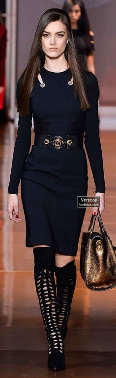 Versace Fall 2014 - Ronja Furrer