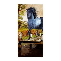 Gatterwe: Horse on the Lake Beach Towel: A blue horse stands in autumn on a lake. A fantastic autumn picture for all horse lovers! Lake Beach, Blue Horse, Fall Pictures, Bath Products, Beach Towel, Bookends, Lovers, Horses, Autumn