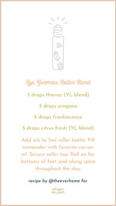 Young Living Oils, Young Living Essential Oils, Roller Bottle Recipes, Doterra, Essential Oils Guide, Perfume, Essential Oil Diffuser Blends, Oil Recipe, Living Essentials