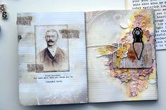 Mezzanotteskapar- Mixed Media made by Katja: Art Daily- Art Journal - Mixedmedia pages