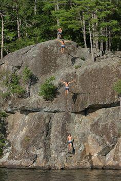 @jonathan niles these cliffs look familiar? Fernald's Neck preserve. Lincolnville, Maine