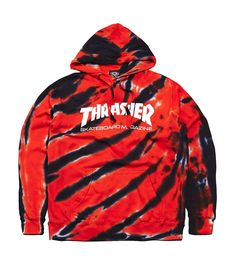 Thrasher Tie-Dye Tiger Stripe Hoodie Hoodie   Vencer NY