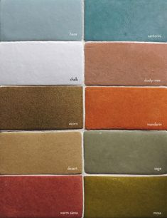 Tabarka has been creating beautiful terra-cotta tiles one piece at a time for over 10 years. Tabarka Tile, Mosaic Tiles, Bath Tiles, Living Room Color Schemes, Colour Schemes, Color Palettes, Floor Colors, House Colors, Mediterranean Living Rooms