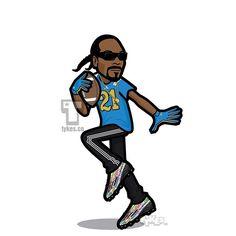 "Snoop Dogg ""UCLA Pro Day"" Tyke. Snoop's Tyke is sporting the #21 Bruins jersey…"