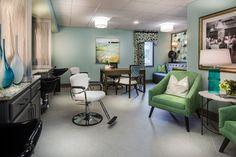 Senior Living Designed by Faulkner Design Group #salon #luxury #faulknerdesigngroup #interiordesign #seniorliving