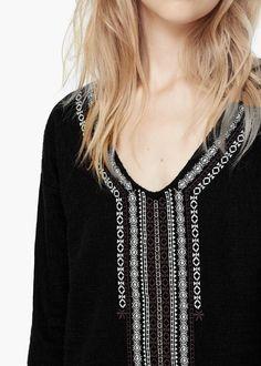Robe coton texturé