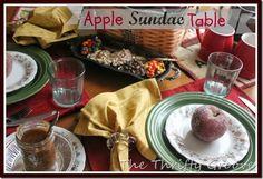The Thrifty Groove: A Fall Favorite- How to Create an Apple Sundae Bar...