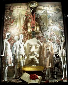 """""""Great Moments in Literature III""""  A Bergdorf Goodman window display based on A Tale of Two Cities by Charles Dickens."""