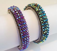 Crystalized Bracelet Tutorial by RominaDesigns on Etsy
