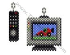 TV and Remote Control Earring Bead Pattern By ThreadABead