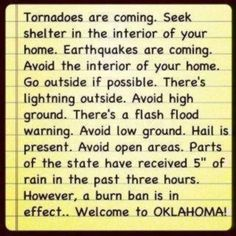 Yup, that's Oklahoma!