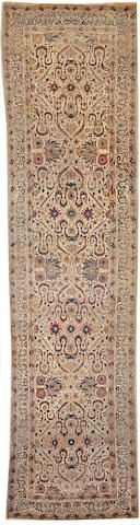 Kerman runner  South Central Persia  Late 19th Century  size approximately 3ft. 5in. x 14ft.