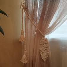 Картинки по запросу macrame Curtains, Home Decor, Insulated Curtains, Homemade Home Decor, Blinds, Draping, Decoration Home, Drapes Curtains, Sheet Curtains