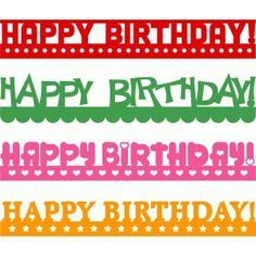 Silhouette Design Store - View Design #63469: happy birthday borders set