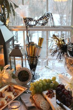 Wow!  Love this New Year's Eve party!  See more party ideas at CatchMyParty.com!  #partyideas #newyears