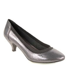 Look at this CL by Laundry Pewter Black Robyn Pump on #zulily today!