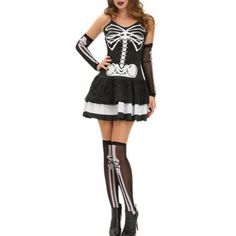 SHARE & Get it FREE | Halloween Skeleton Layered Cami Dress CostumeFor Fashion Lovers only:80,000+ Items·FREE SHIPPING Join Dresslily: Get YOUR $50 NOW!