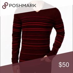 Stripe v neck sweater Product Details Step out in style for your next night on the town with this V-neck sweater from Alfani, rendered with a classic fit and a sharp stripe. Classic fit V-neck Pullover Long sleeves Allover stripes Ribbed collar, cuffs and hem The perfect wear-to-work choice Cotton/modal/nylon Machine washable Sweaters