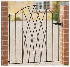 Wrought Iron Metal Modern Garden Gate