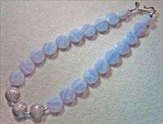 Blue Lace Agate Necklace is Gorgeous - pinned by pin4etsy.com