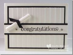 Northwest Stamper » Jennifer Blomquist, Stampin' Up! Demonstrator » Elegant Congratulations Graduation Card