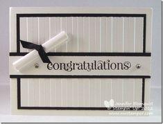 Northwest Stamper » Jennifer Blomquist, Stampin' Up! Demonstrator » Elegant Congratulations Graduation Card