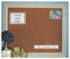 Upcycling Frames:  Bulletin Boards and Chalk Boardshttp://www.thedecoratednest.com/upcycled-frames-chalkboards-bulletin-boards/