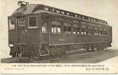 """"""" New York Central Railroad 1st Steel Car """" Vintage 1906 Post Card. Excellent card showing the 1st all steel Railroad Car built at Berwick, PA. with an UDB (1906), UNU and in Excellent condition. Karodens Vintage Post Cards at www.bonanza.com/booths/karoden"""