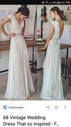 Vintage lace beading bridal gowns 2017 simple A line V neck v backless sweep train wedding gowns - Wedding Dress - Brautkleid Second Hand Wedding Dresses, Lace Beach Wedding Dress, Wedding Dress Train, Wedding Gowns, Dress Beach, Wedding Beach, Mermaid Wedding, Wedding Venues, Maternity Wedding