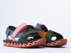 Bernhard Willhelm X Camper 18886 Mens in Khaki Pink at Solestruck.com