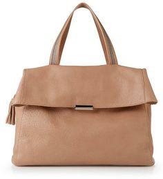 FABIANA FILIPPI - Strukturierte Leder-Handtasche Mauve