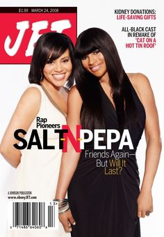 Salt-N-Pepa on Jet magazine Jet Magazine, Black Magazine, Ebony Magazine Cover, Magazine Covers, Rapper Delight, Foxy Brown, Black Sisters, Vintage Black Glamour, Black History Facts