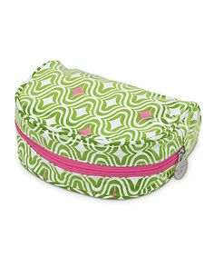Take a look at this Green & Pink Curve Appeal Day Traveler Cosmetic Bag by Buckhead Betties on #zulily today!