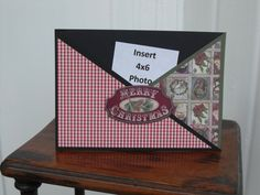 Handmade Photo Christmas Card with slot for Photo by Scrappin2some, $3.75