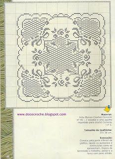 View album on Yandex. Filet Crochet Charts, C2c Crochet, Crochet Diagram, Thread Crochet, Crochet Table Runner, Crochet Tablecloth, Crochet Doilies, Crochet Lace, Doily Patterns