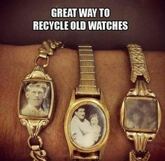 Good idea like old jewerly from deceased grandparents & put their picture in it