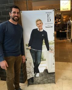 A surprise visitor! Aaron Rodgers stopped by to check out the new ED Ellen DeGeneres furniture line. Coming soon to all 5 of our Southern California showrooms! Photo Credit: Ellen DeGeneres