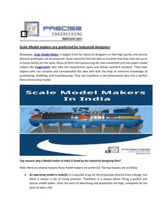 Model makers are preferred by industrial designers