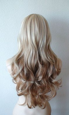 Summer Special // Platinum blonde / Brown Ombre wig. by kekeshop. I want some wigs!