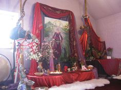 Halloween ~K One of my favorite places on Earth! Temple Room, Pagan Altar, Wiccan, Pagan Wedding, Witch Aesthetic, Sabbats, Magick, Witchcraft, Gods And Goddesses