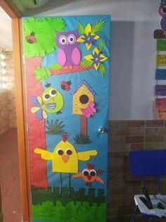 Classroom Decor Themes, Classroom Design, Classroom Door, Class Decoration, School Decorations, Animal Crafts For Kids, Art For Kids, Jungle Theme Nursery, School Doors