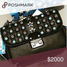 Valentino💥Rockstud Glamlock Star🌟Studded Bag Not4Sale//JustSharing🤗😍 Valentino Bags Crossbody Bags